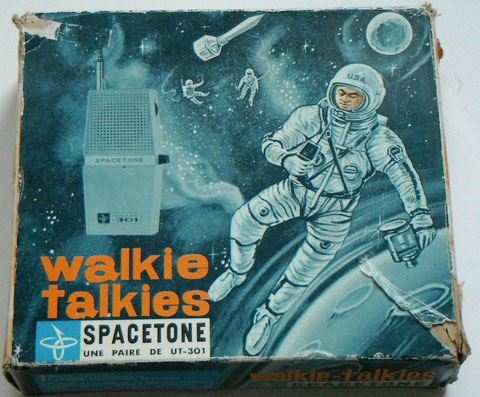 Walkie talkies UT-301  SPACETONE vintage toy