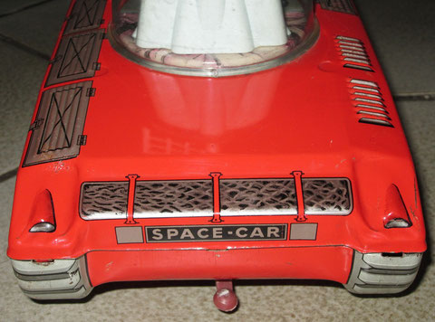 Car Spatial Mont Blanc Tin Toy Jouet Tole Space Car