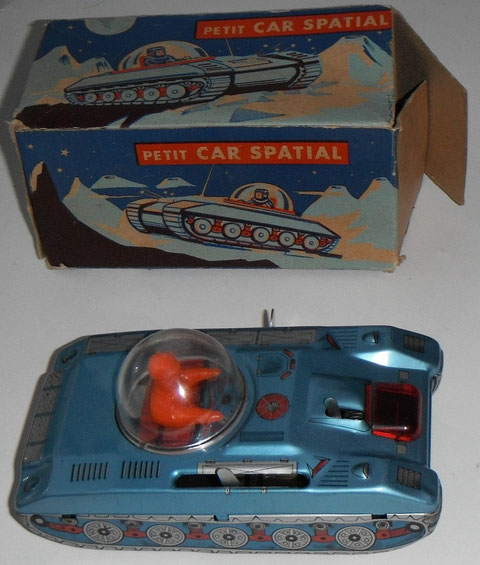 Jouets Mont Blanc Char Tole Tin Toy Car Spatial Space Mini