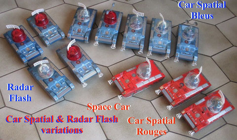 car spatial jouets mont blanc radar flash tin space