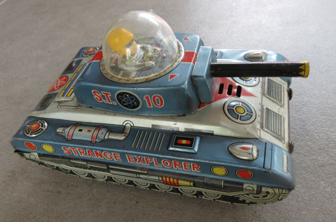 strange explorer space tin car battery operated