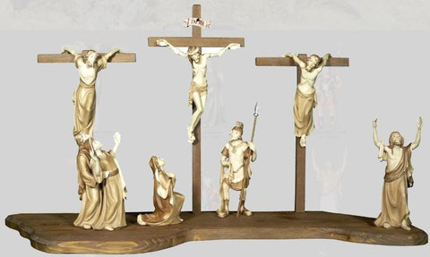 Bild Passionskrippe Kreuzigung mit Bodenplatte