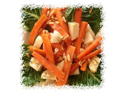 Möhren-Mozzarella Salat