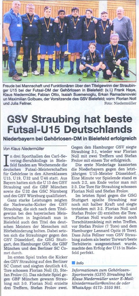 Quelle: Straubinger Tagblatt, 27.02.2020