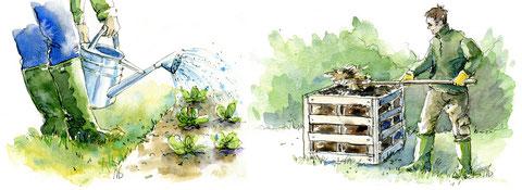 Arrosage et compostage (Editions Larousse)