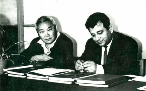 С.Н. Семенов и И.Ш. Алиев