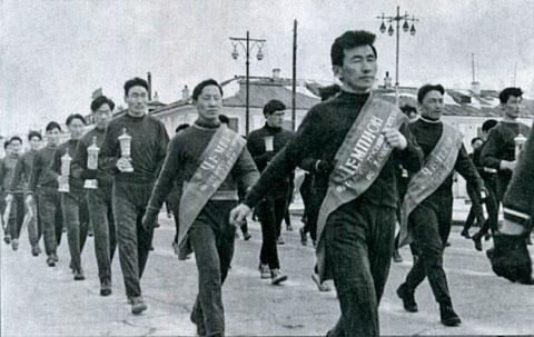 Спортсмены ЯГУ на праздничной демонстрации