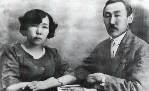 А. Софронов с женой