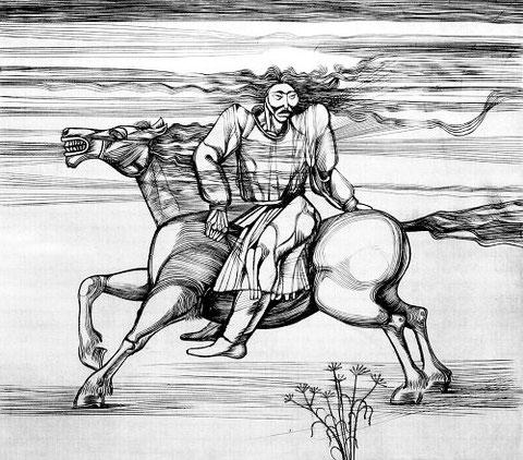 Вотяков  Ю.И. На коне.