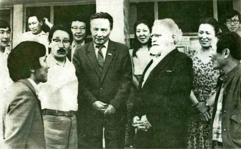 Академик А.Д. Александров на встрече с преподавателями ФМФ ЯГУ, 1984 г.