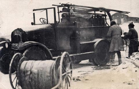 Пожарная машина. Якутск, 30е годы