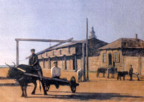 Малый базар (Кружало). Худ. Э. Васильев. Якутск