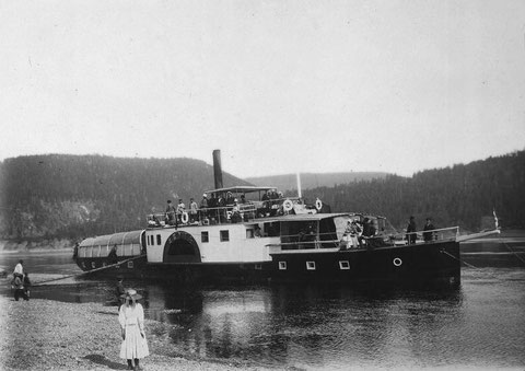 Пароход на реке Лена