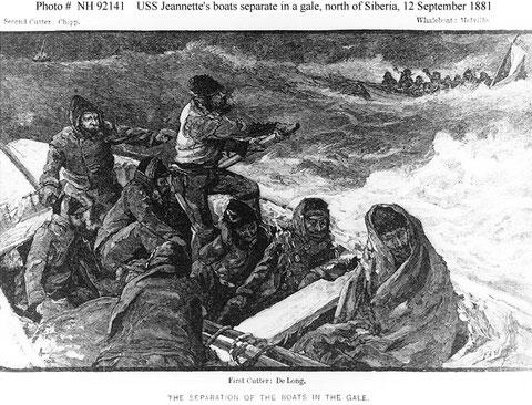 Шлюпки с экипажем яхты «Джаннетт».