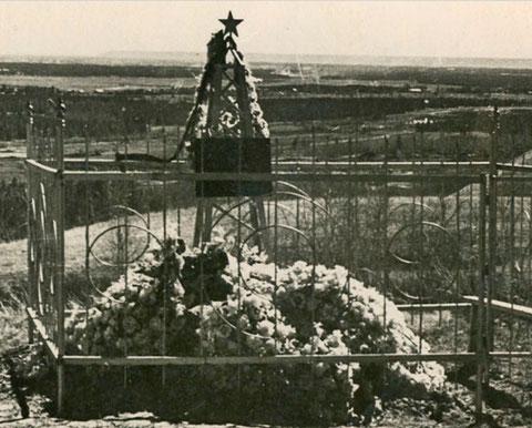 Могила М.М. Носова на Маганском кладбище
