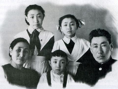 Семья Корохоткиных. 1954 год