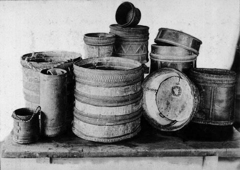 якутская берестяная посуда