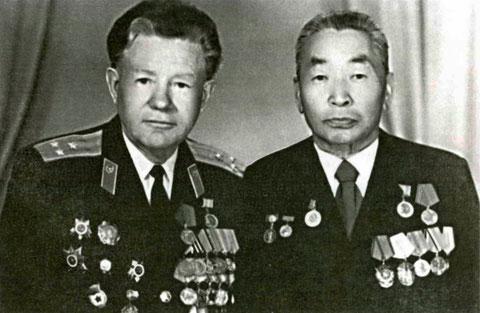 Токарев П.Н. с Г.П. Башариным