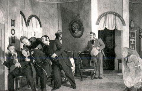Сцена из спектакля «Женитьба» Н.В. Гоголя