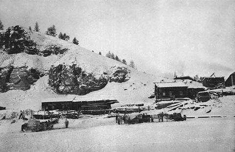 Станция на тракте. Якутия. Начало 20-го века.