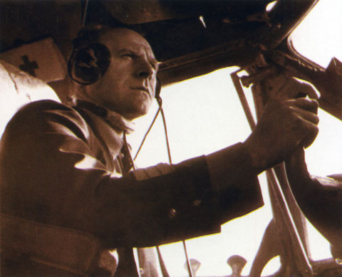 Ю.П. Яковлев за штурвалом самолета