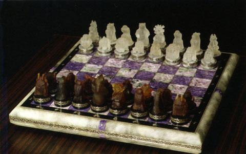 Шахматы из халцедона. Якутия