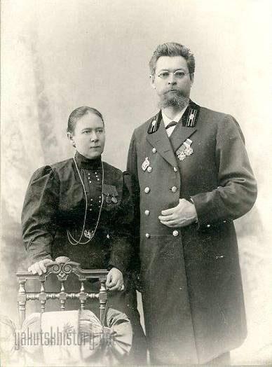 Вера Александровна и Прокопий Прокопьевич Явловские. Якутск. 1907 г.