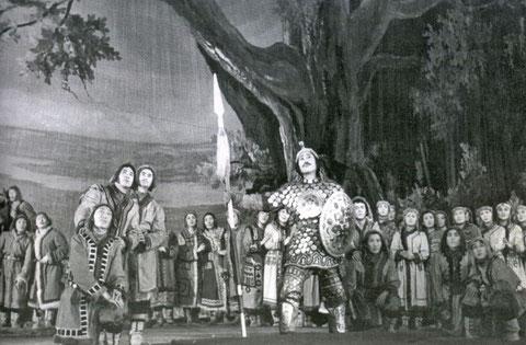Представление якутской оперы «Нюргун Боотур» 1957 г.
