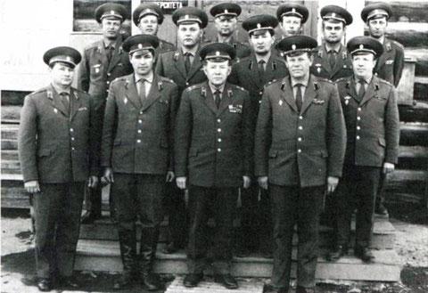Офицеры военной кафедры 1976 год