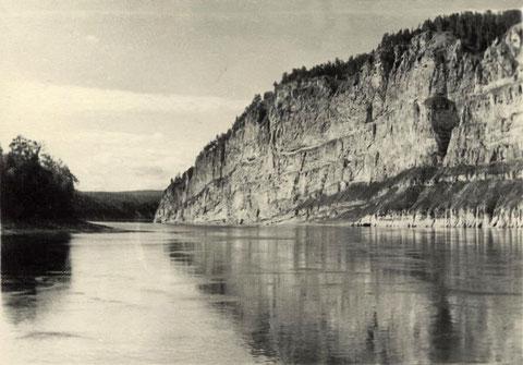 На реке Лена.