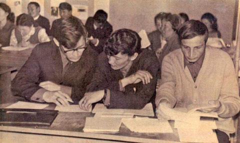 В аудитории: Н. Данилов, А. Сыромятников и Ю. Трофимцев