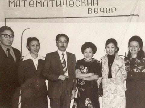 Иннокентий Герасимович Егоров (в центре), Лидия Ивановна Озадовская (крайняя справа). Из архива Озадовской Л.И.
