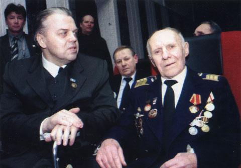 В зрительном зале с И.Е. Негенбля