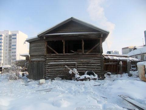 Лабаз на территории ветстанции. Якутск