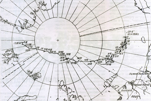 Дрейф ледяного острова СП - 6.