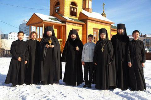 Служба в Спасском монастыре. Якутск