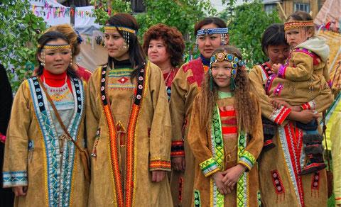 Современные женщины юкагирки. Якутия