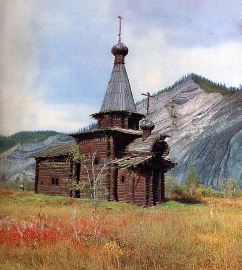 Спасская церковь в Зашиверске. Якутия