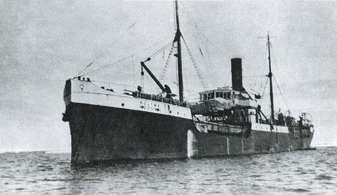 Пароход «Колыма» с Ю-13 на борту