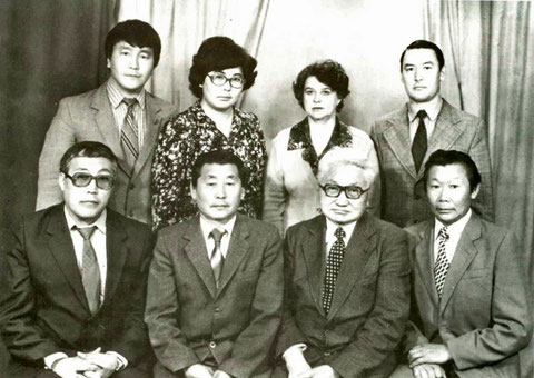 Коллектив кафедры истории СССР. 1985 г. Якутск