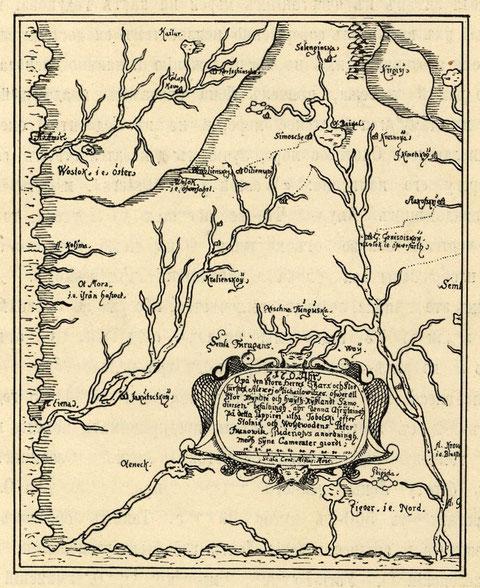 Черт. 5. Карта Восточной Сибири П.И. Годунова. (По В. Кордту).