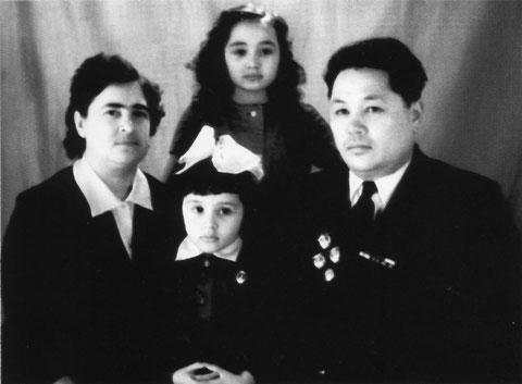Кузмин с семьей 1963 г.
