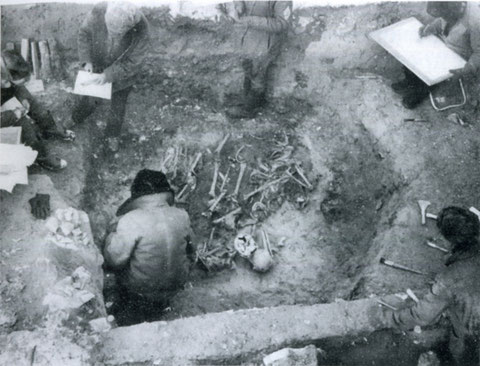 Разборка погребения № 2 Диринг-Юряхского могильника