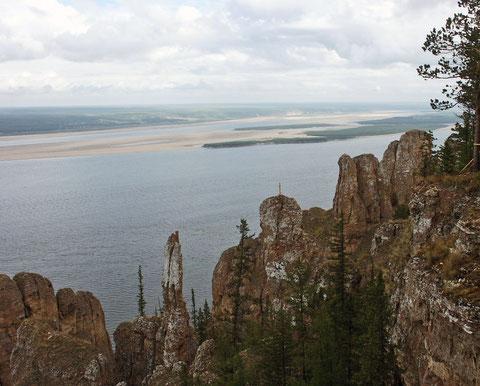 Вид на реку Лена. Якутия