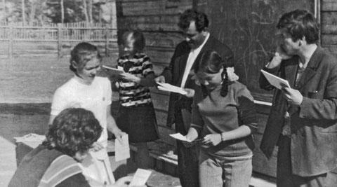 ФМШ 1972 г. Исмаил Шахбазович Алиев, Игорь Петрович Мишутушкин. Фото из личного архива Л. Мишутушкиной