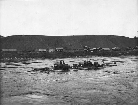 Плот на реке Лене. Якутия