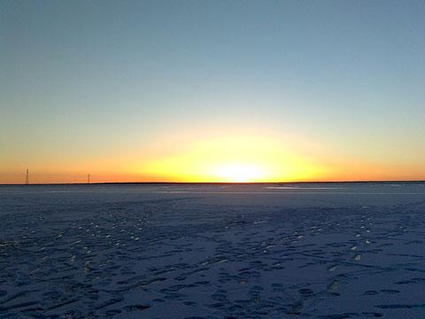 Первый лед на реке Лена. Фото Сергея Дьяконова. Якутия