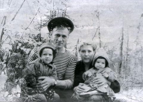 Семья Бабичевых на отдыхе. Киренск, 1960 г