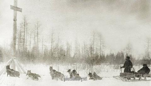 Дорога на Гижигу. Снимок В.И. Иохельсона