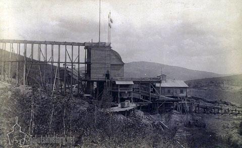 3олотопромывочная машина на Cибиpякoвcких промыслах